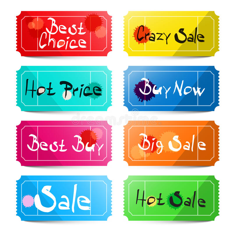 Beste Wahl - verrückter Verkauf - heißer Preis vektor abbildung