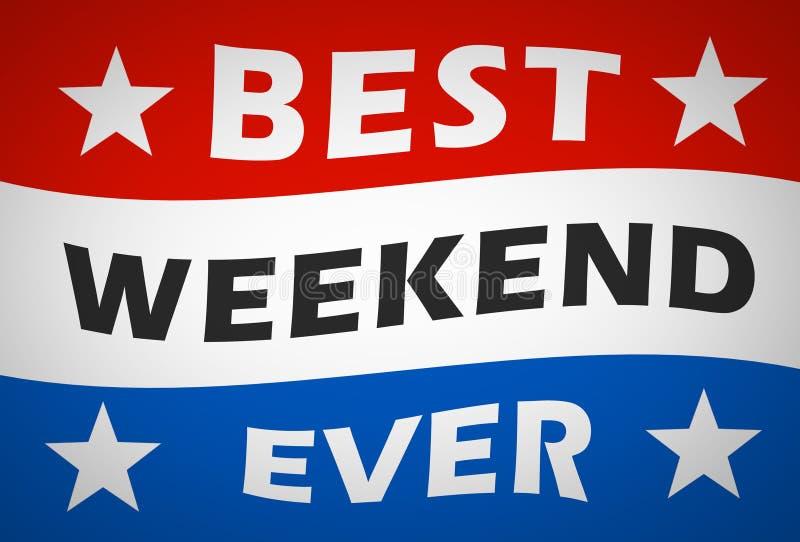 Beste weekend ooit stock illustratie