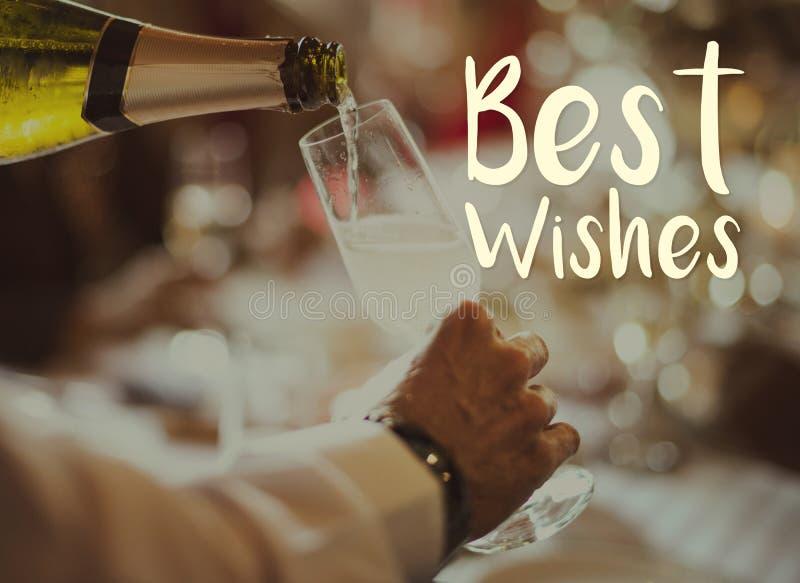 Beste wensen bij nieuwe jaarpartij royalty-vrije stock afbeelding