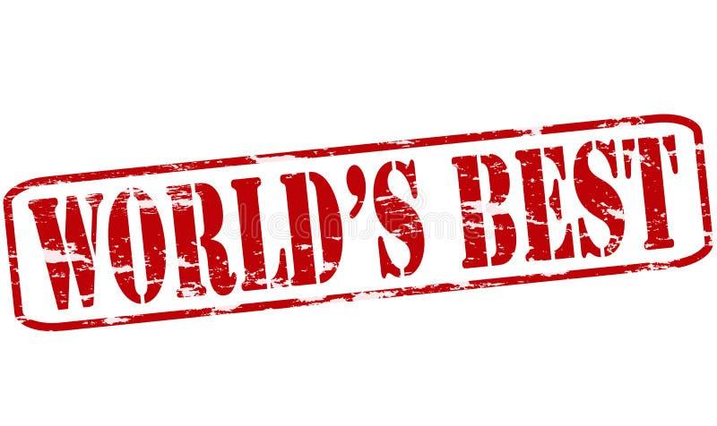 Beste wereld stock illustratie