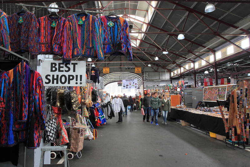 Beste winkel Victoria Market Melbourne Australia royalty-vrije stock foto