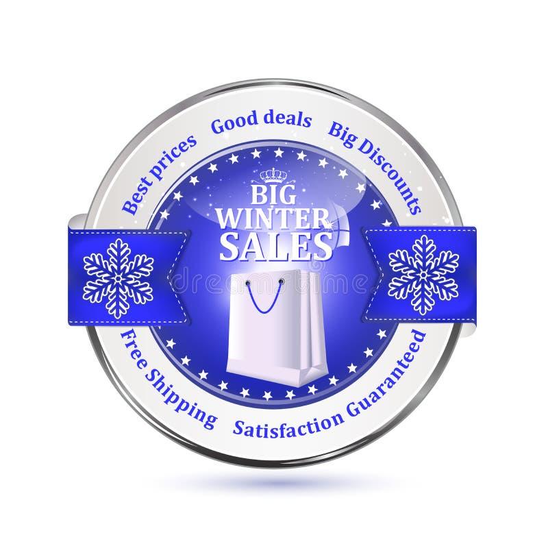 Beste Winter-Angebote Sonderangebot, große Verkaufsikone/Aufkleber vektor abbildung