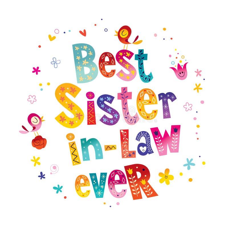 Beste zuster in wet ooit stock illustratie