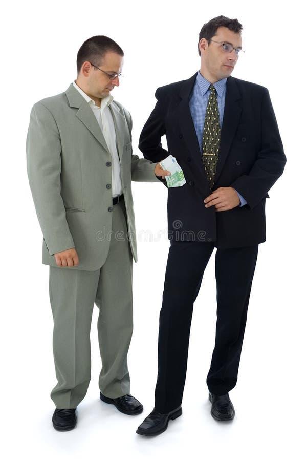 Bestechungsgeld stockbild