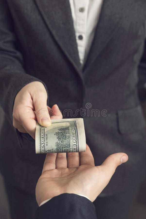 Bestechungsgeld lizenzfreies stockfoto