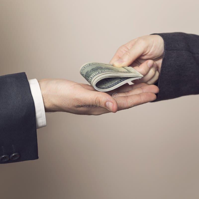 Bestechungsgeld lizenzfreies stockbild