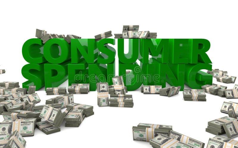 Besteden het van de consument vector illustratie