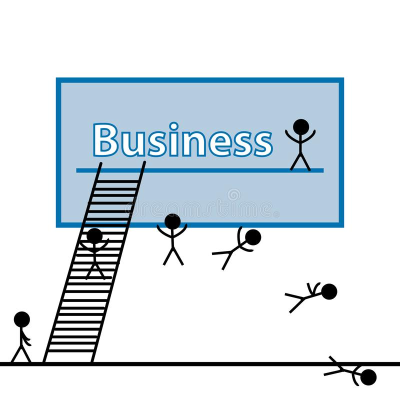 Besteed om bedrijfs de groei, beheer en strategie te kweken vector illustratie