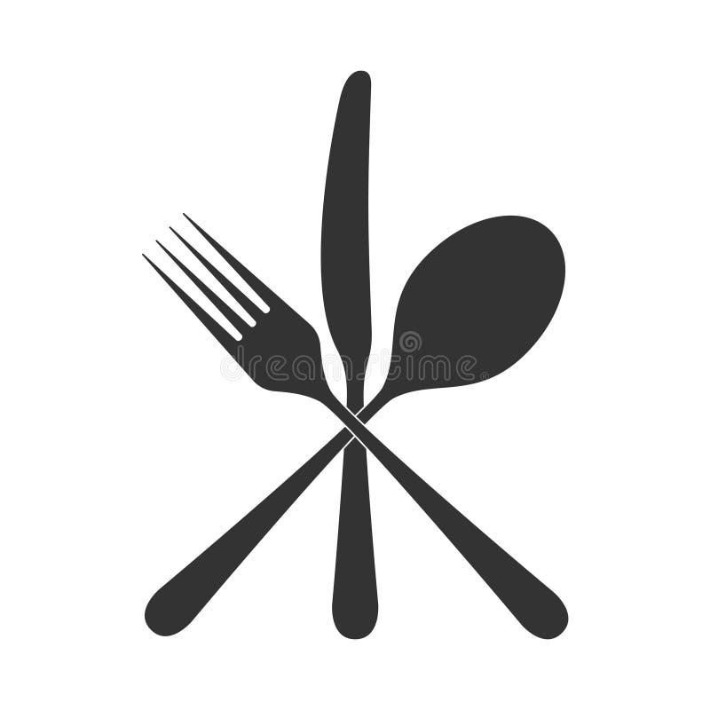 Bestek gekruist pictogram vector illustratie