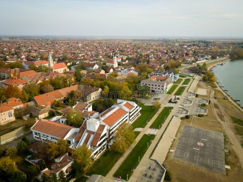 Bestemming-Novi Becej, platteland van Servië royalty-vrije stock fotografie