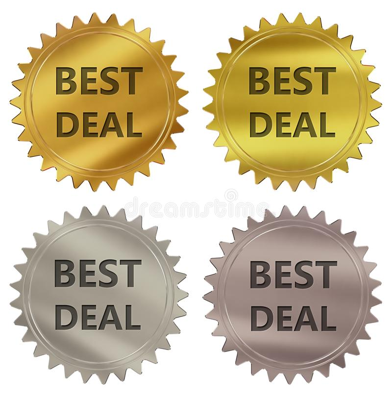 Bester Abkommengarantieaufkleber stock abbildung