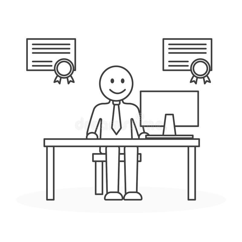 Bester Angestellter im Büro vektor abbildung