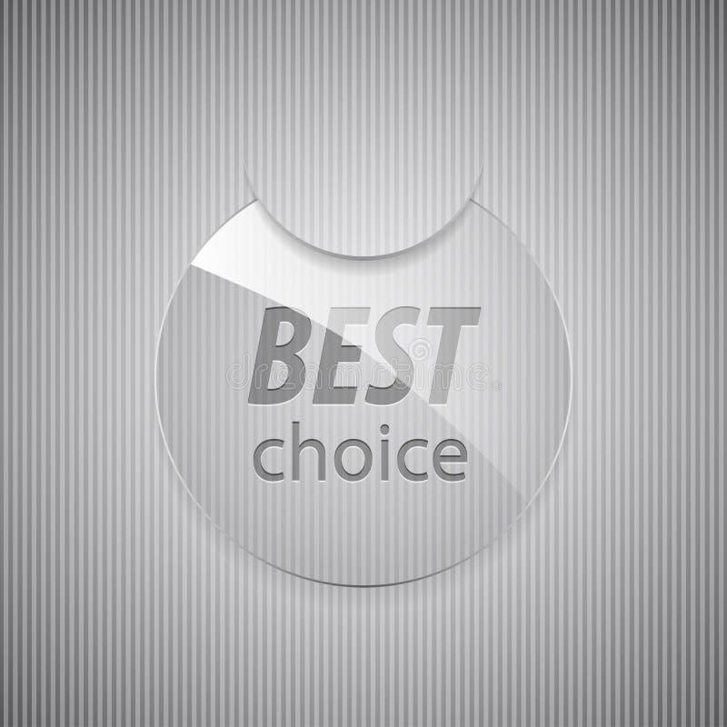 Bester auserlesener runder Glasaufkleber. vektor abbildung