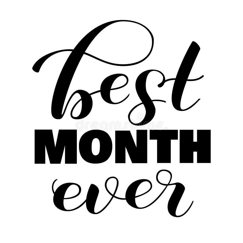 Bester Monat Aufkleber überhaupt beschriftend Auch im corel abgehobenen Betrag vektor abbildung
