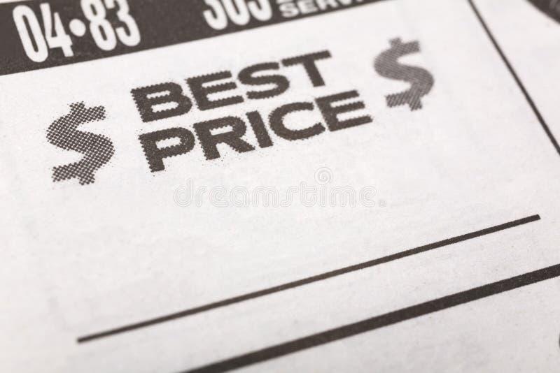 Bester Preis lizenzfreie stockfotos