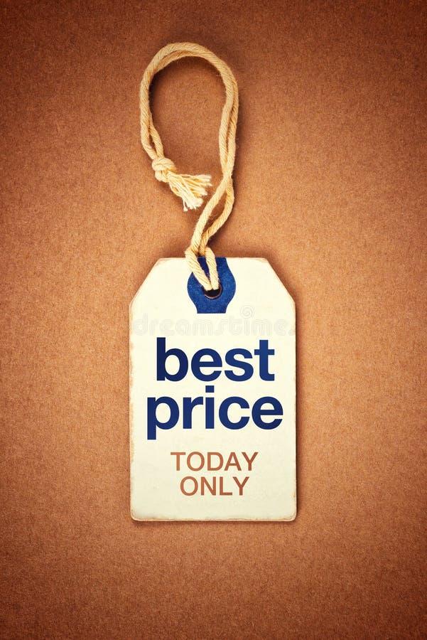 Bester Preis-heute nur Weinlese-Tag-Aufkleber stockfotografie