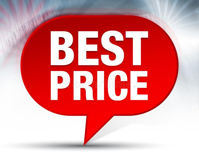 Bester Preis-roter Blasen-Hintergrund lizenzfreie abbildung