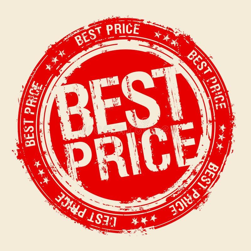 Bester Preisstempel. stock abbildung