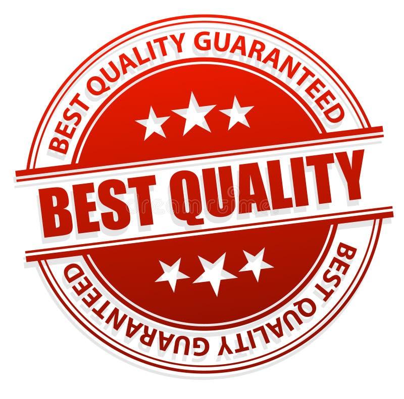 Bester Qualitätsstempel vektor abbildung