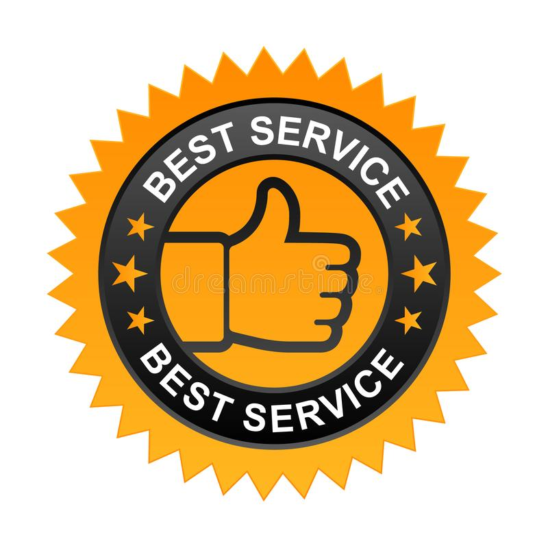 Bester Service-Aufkleber vektor abbildung
