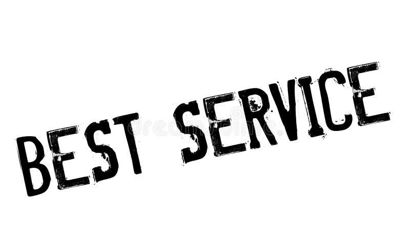 Bester Service-Stempel stockfoto