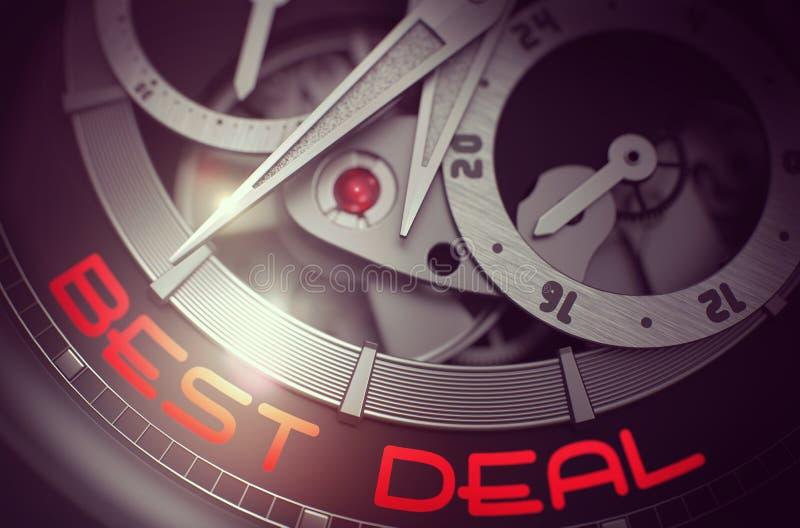 Bestes Abkommen auf dem Weinlese-Taschen-Uhr-Mechanismus 3d vektor abbildung