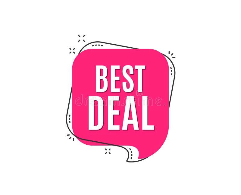 Bestes Abkommen Sonderangebot Verkaufszeichen stock abbildung