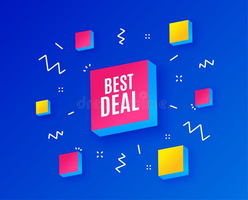 Bestes Abkommen Sonderangebot Verkaufszeichen Vektor vektor abbildung
