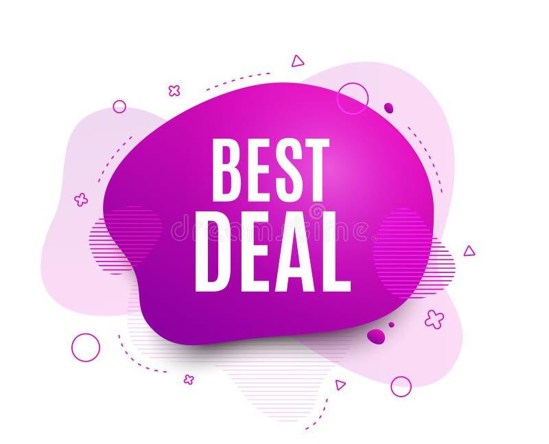 Bestes Abkommen Sonderangebot Verkaufszeichen Vektor stock abbildung