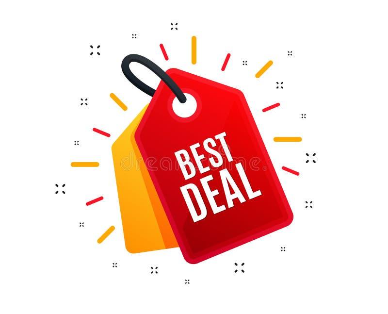 Bestes Abkommen Sonderangebot Verkaufszeichen Vektor lizenzfreie abbildung