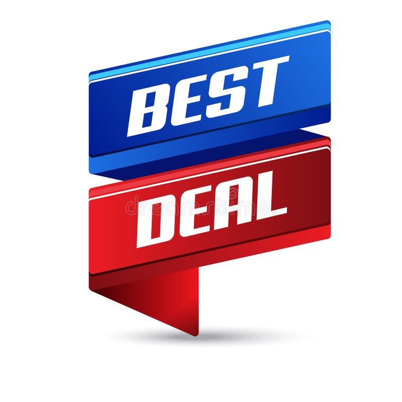 Bestes Abkommen-Vektor-Ikonen-Fahnen-Design lizenzfreie abbildung