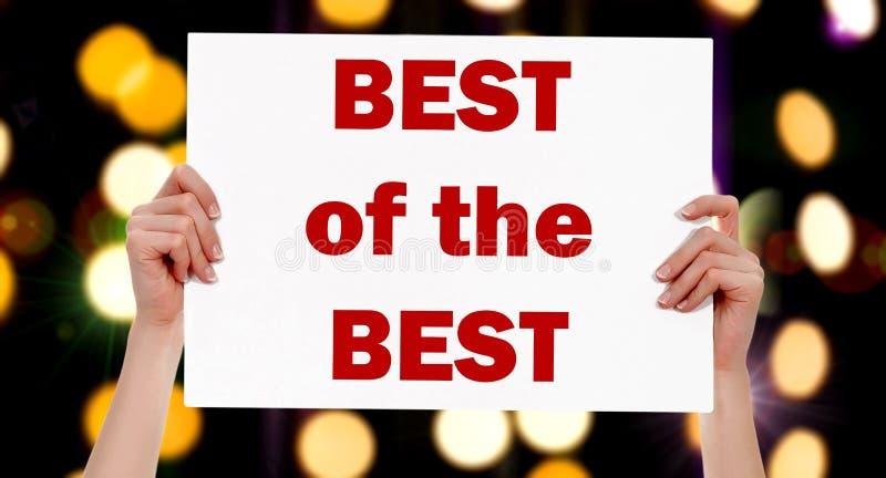 Bestes der besten weiblichen Hände, die ein Plakat halten lizenzfreie stockfotografie