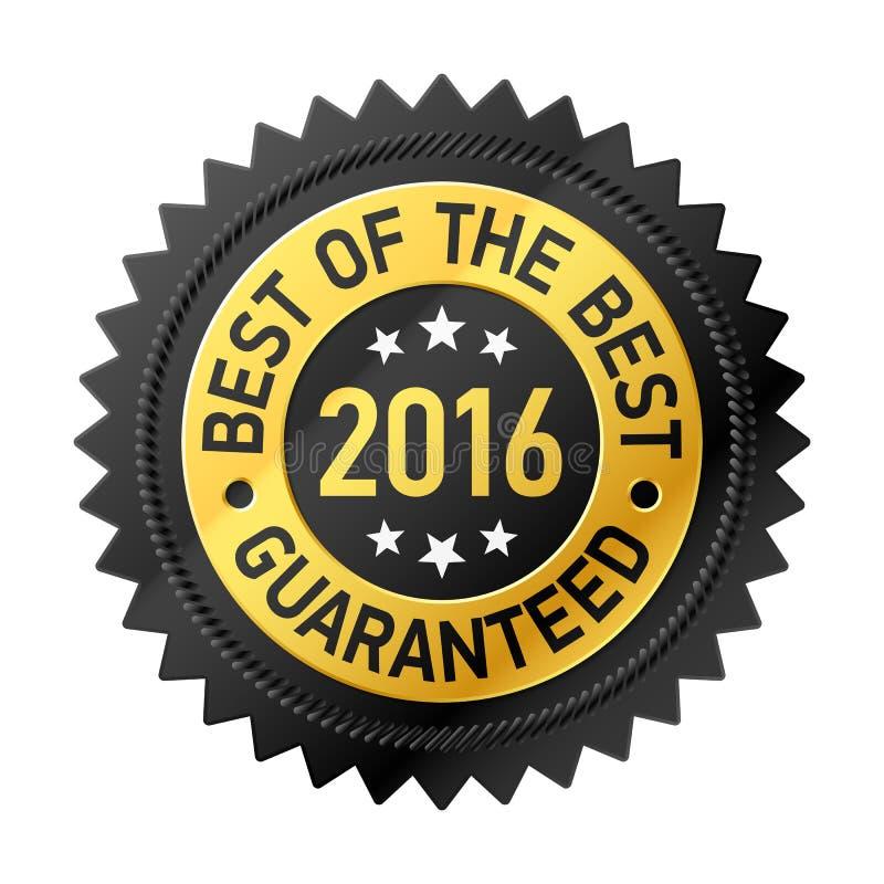 Bestes des besten Aufklebers 2016 lizenzfreie abbildung
