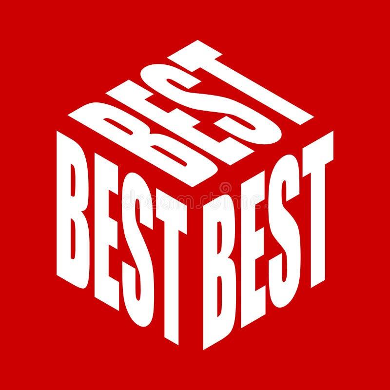 Bestes einfaches Textslogant-shirt Grafischer Phrasenvektor f?r Plakat, Aufkleber, Kleiderdruck, Gru?karte oder Postkarte typogra lizenzfreie abbildung