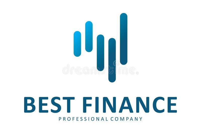 Bestes Finanzlogo lizenzfreie abbildung