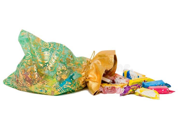 Bestes Geschenk ist Beutel der Schokoladen lizenzfreies stockfoto