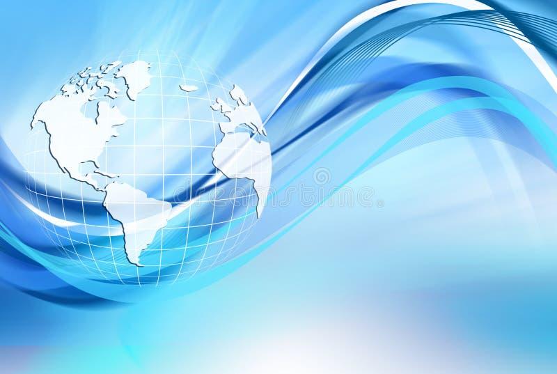 Bestes Internet-Konzept des globalen Geschäfts Kugel stock abbildung