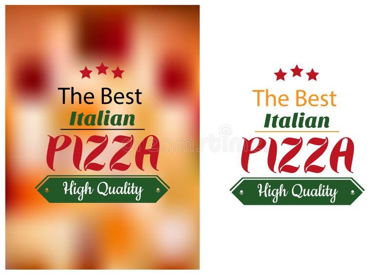 Bestes italienisches Pizzaplakat stock abbildung