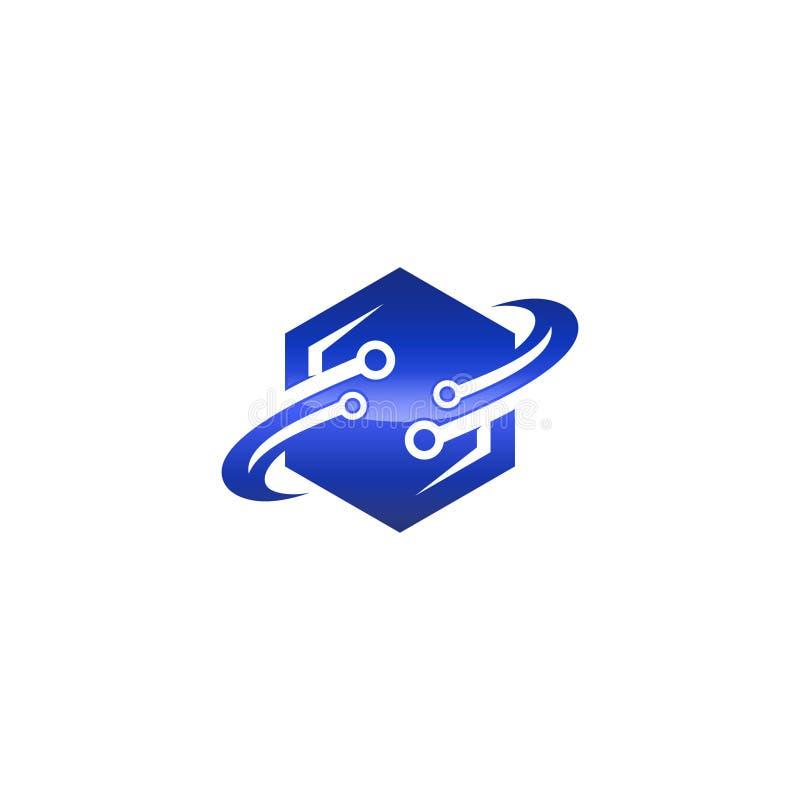 Bestes kreatives Hexagondesign mit Bahnringen vektor abbildung