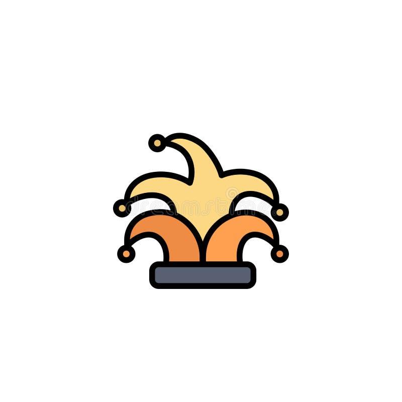 Bestes, Krone, König, Madrigal-Geschäft Logo Template flache Farbe lizenzfreie abbildung