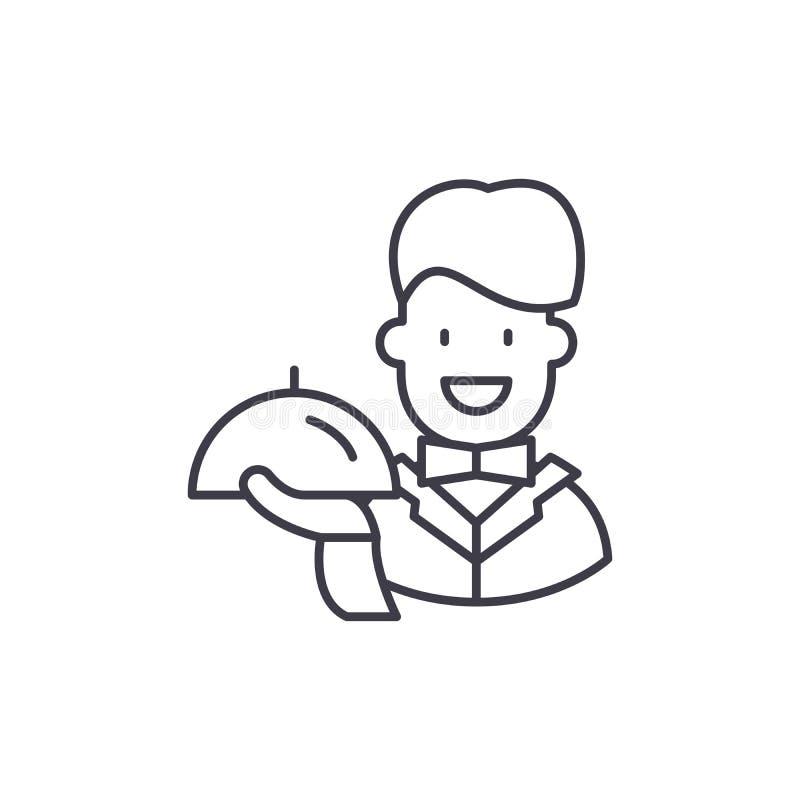 Bestes Nebengleisikonenkonzept Lineare Illustration des besten Service-Vektors, Symbol, Zeichen lizenzfreie abbildung