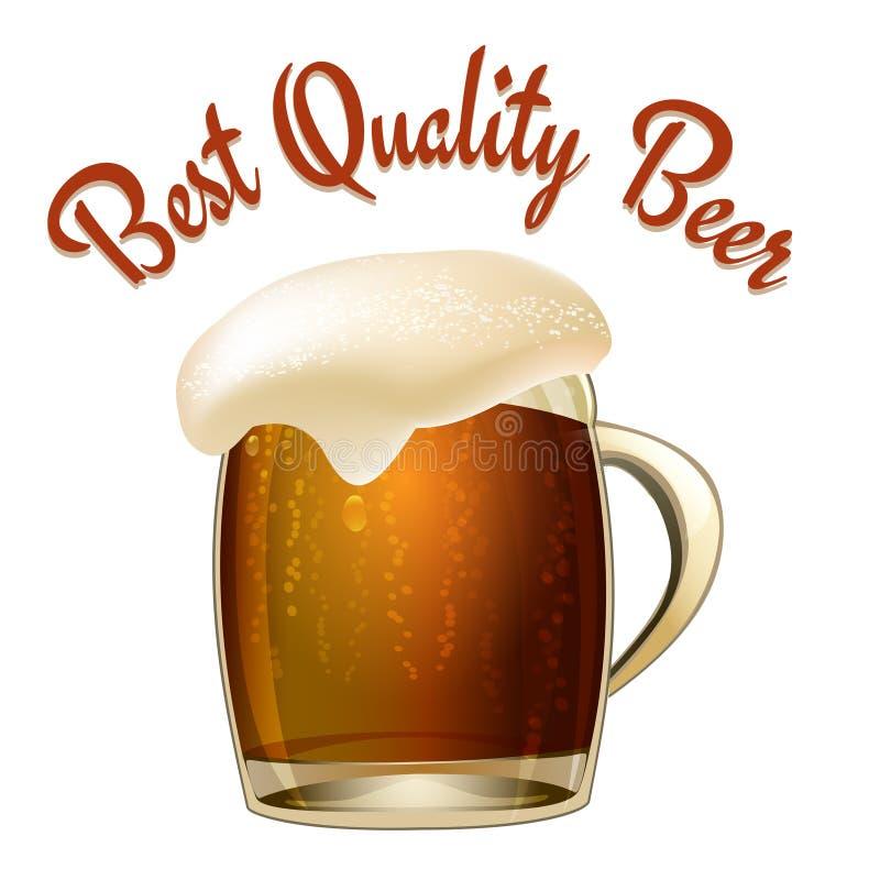 Bestes Qualitäts-Bier lizenzfreie abbildung