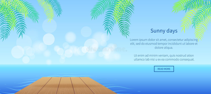 Bestes Sommerzeit-Partei Promo-Plakat mit Palmen stock abbildung