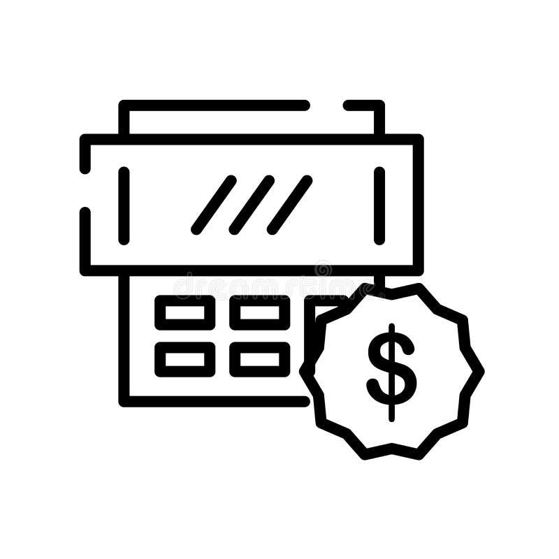 Besteuert den Ikonenvektor, der auf weißem Hintergrund lokalisiert wird, Steuern unterzeichnen, Lin stock abbildung