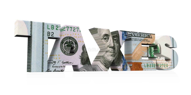 ` BESTEUERT ` Dollar lokalisiert lizenzfreie abbildung