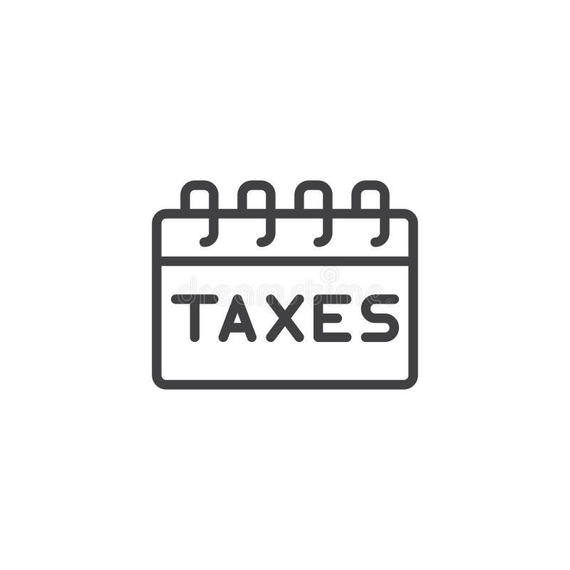 Besteuert Zahltagentwurfsikone lizenzfreie abbildung