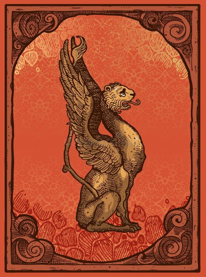 bestia heraldyczna ilustracja wektor