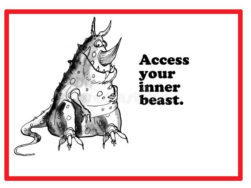 Bestia interna illustrazione vettoriale