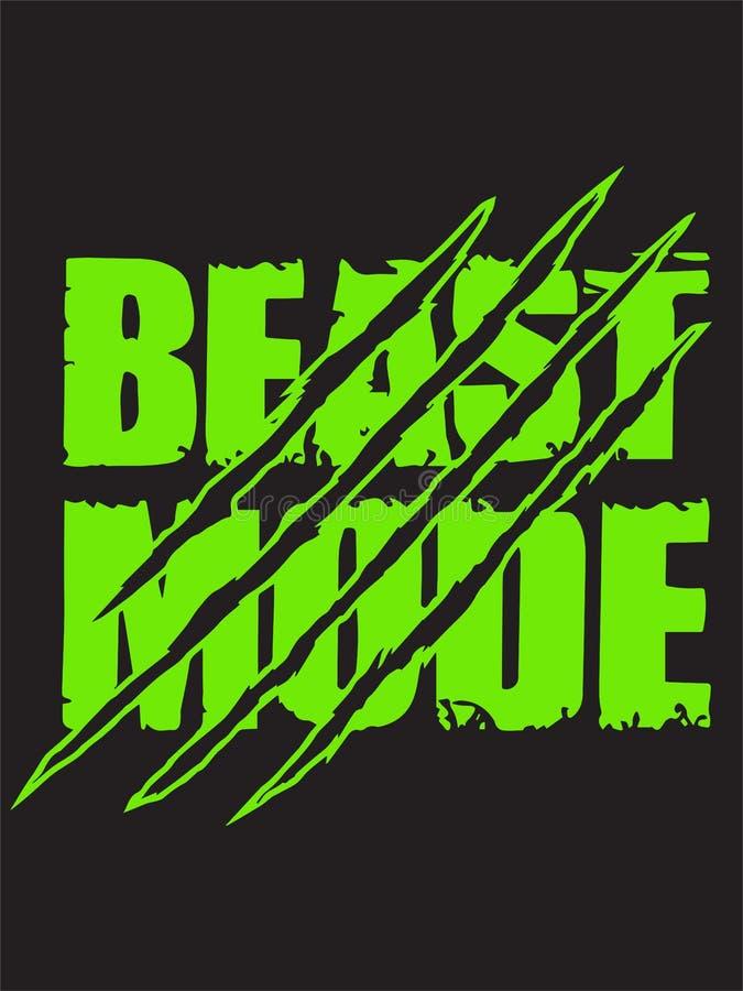 Bestia trybu r?ka rysuj?cy literowanie Typografii koszulki projekt r?wnie? zwr?ci? corel ilustracji wektora ilustracja wektor