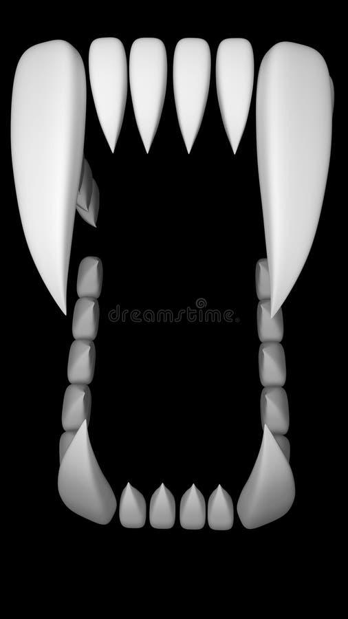 Bestia zęby ilustracja wektor